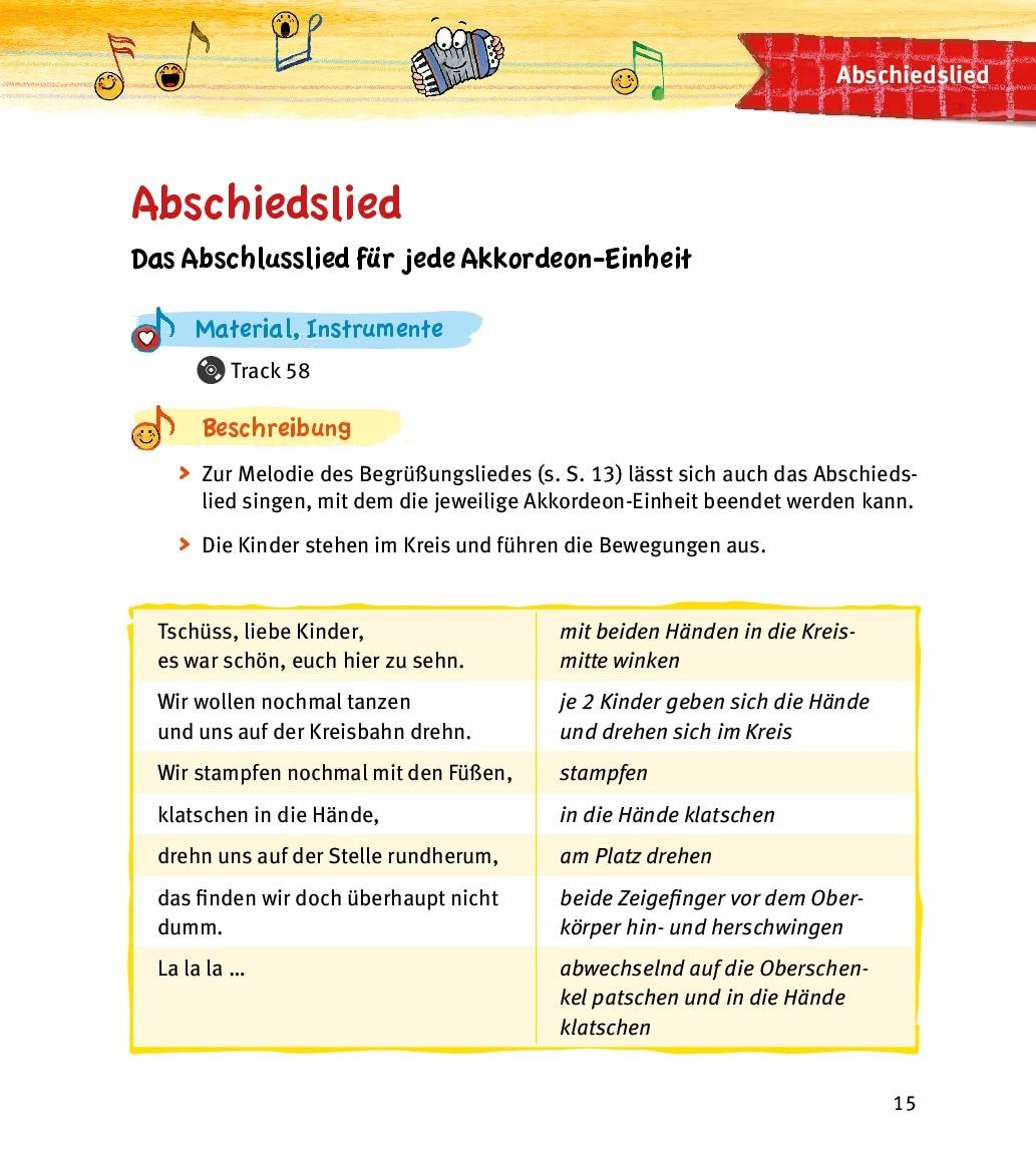 Innenansicht zu Das Kita-Akkordeon-Buch, m. Audio-CD