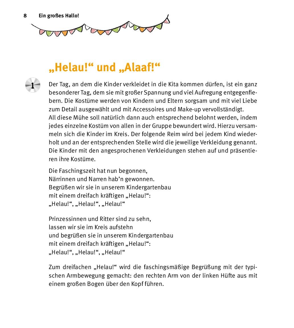 Innenansicht zu Tschingderassabum - Polonaisen, Tanzspiele und Spaßlieder, m. Audio-CD