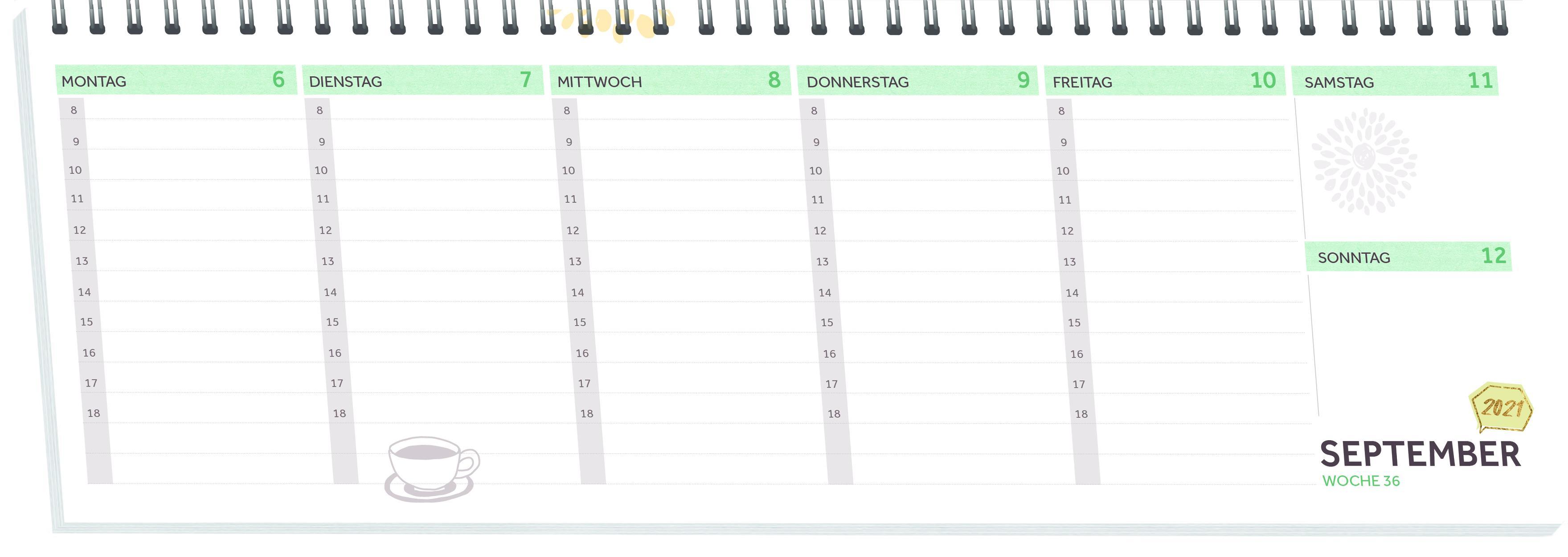 Innenansicht zu Der Kita-Tischkalender mit Herz (Juli 2021-August 2022)