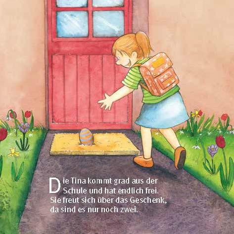 Innenansicht zu Da drüben sitzt ein Osterhas. Mini-Bilderbuch.