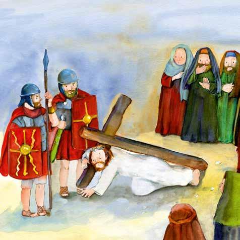 Innenansicht zu Der Kreuzweg Jesu. Mini-Bilderbuch.