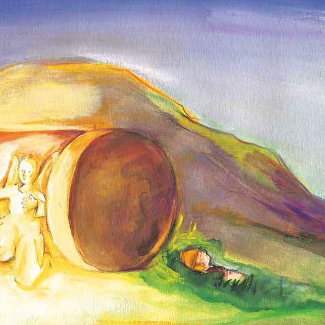 Innenansicht zu Jesus ist auferstanden. Mini-Bilderbuch.