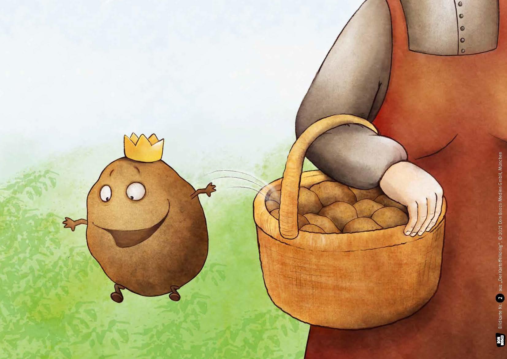 Innenansicht zu Der Kartoffelkönig. Kamishibai Bildkartenset.