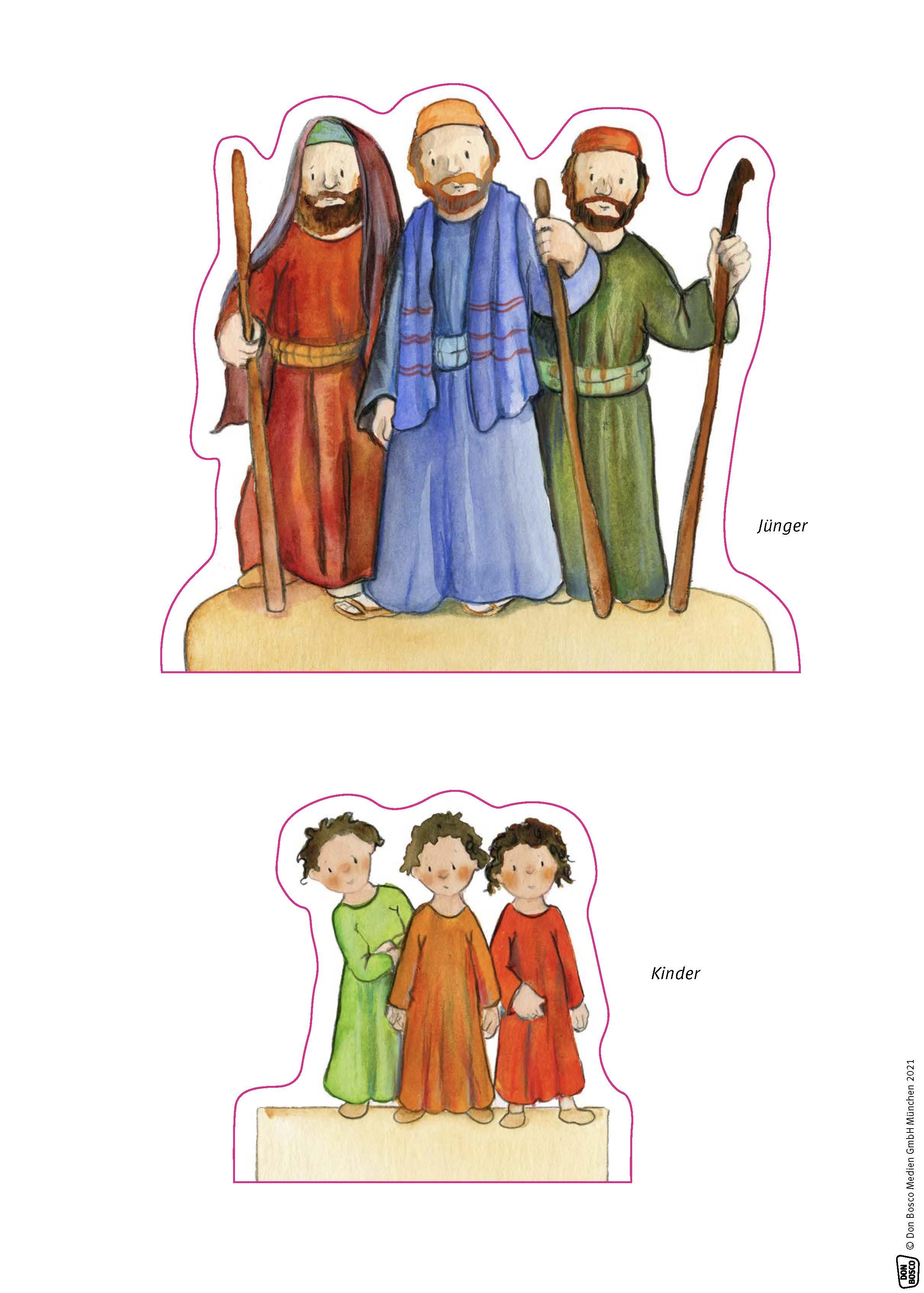 Innenansicht zu Jesus segnet die Kinder.