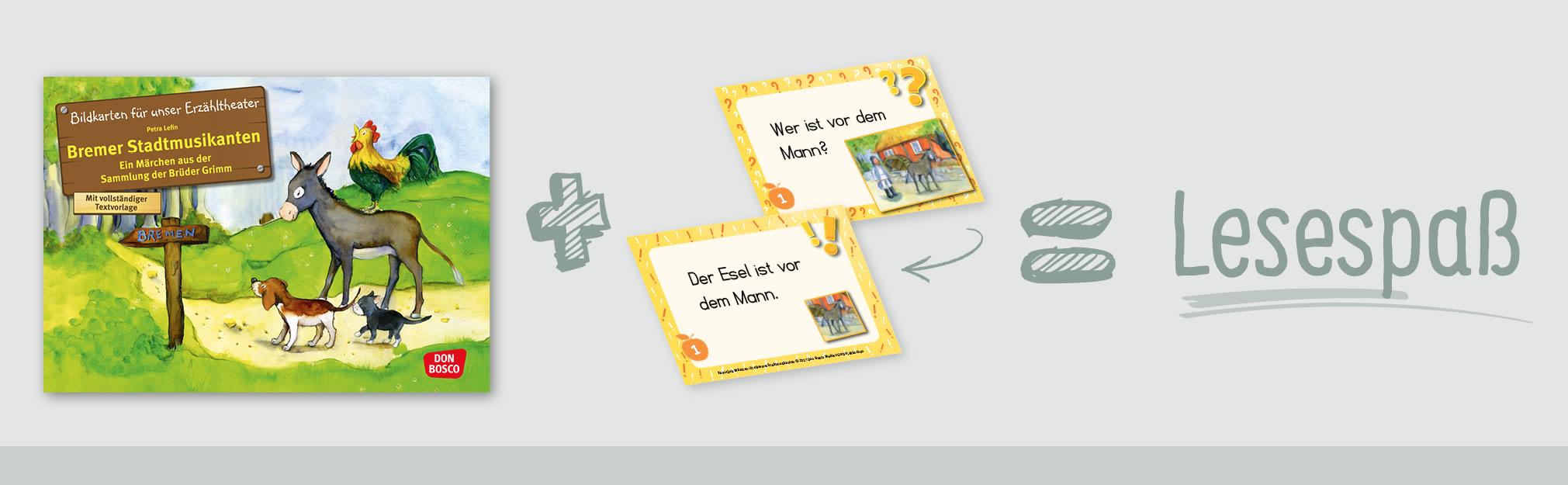 Innenansicht zu Kami-Quiz Märchen: Die Bremer Stadtmusikanten