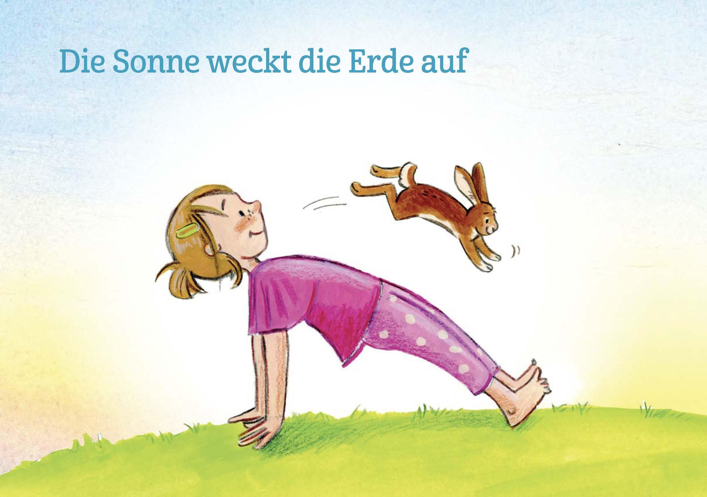 Innenansicht zu Kinderyoga-Bildkarten für Frühling und Sommer