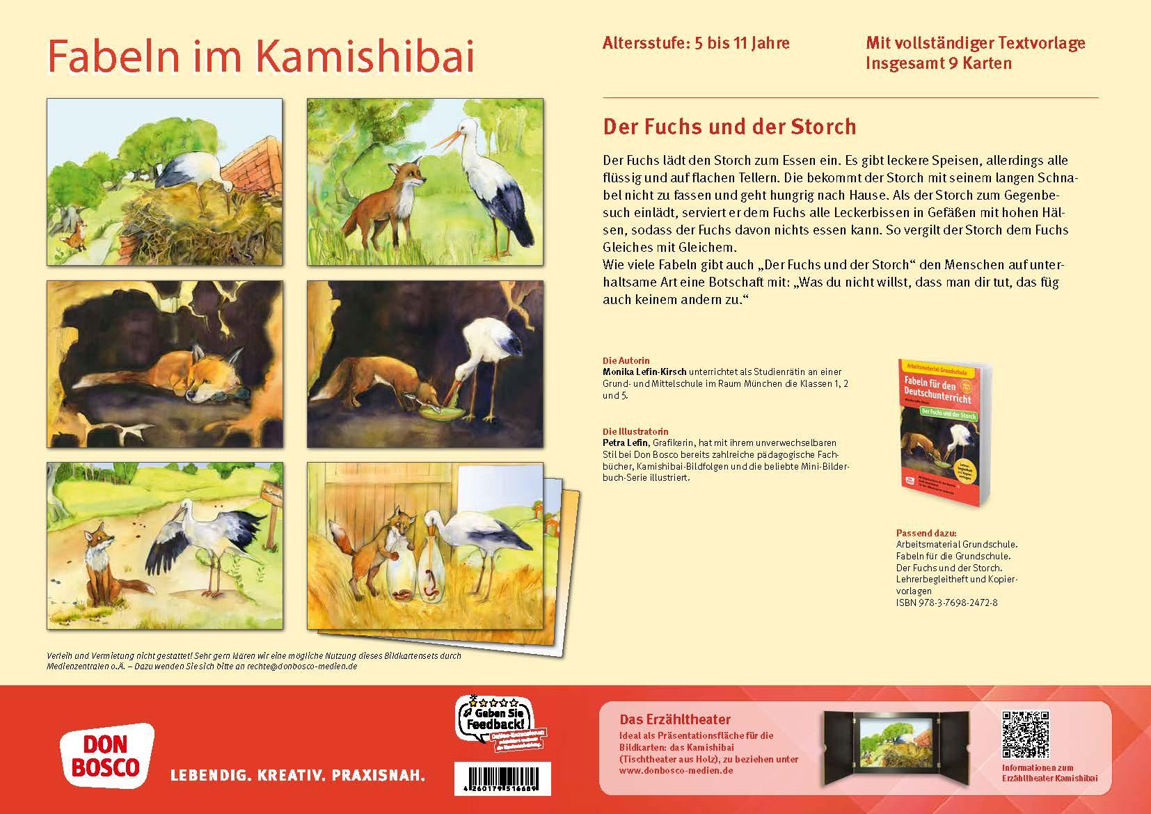Innenansicht zu Der Fuchs und der Storch. eKami.