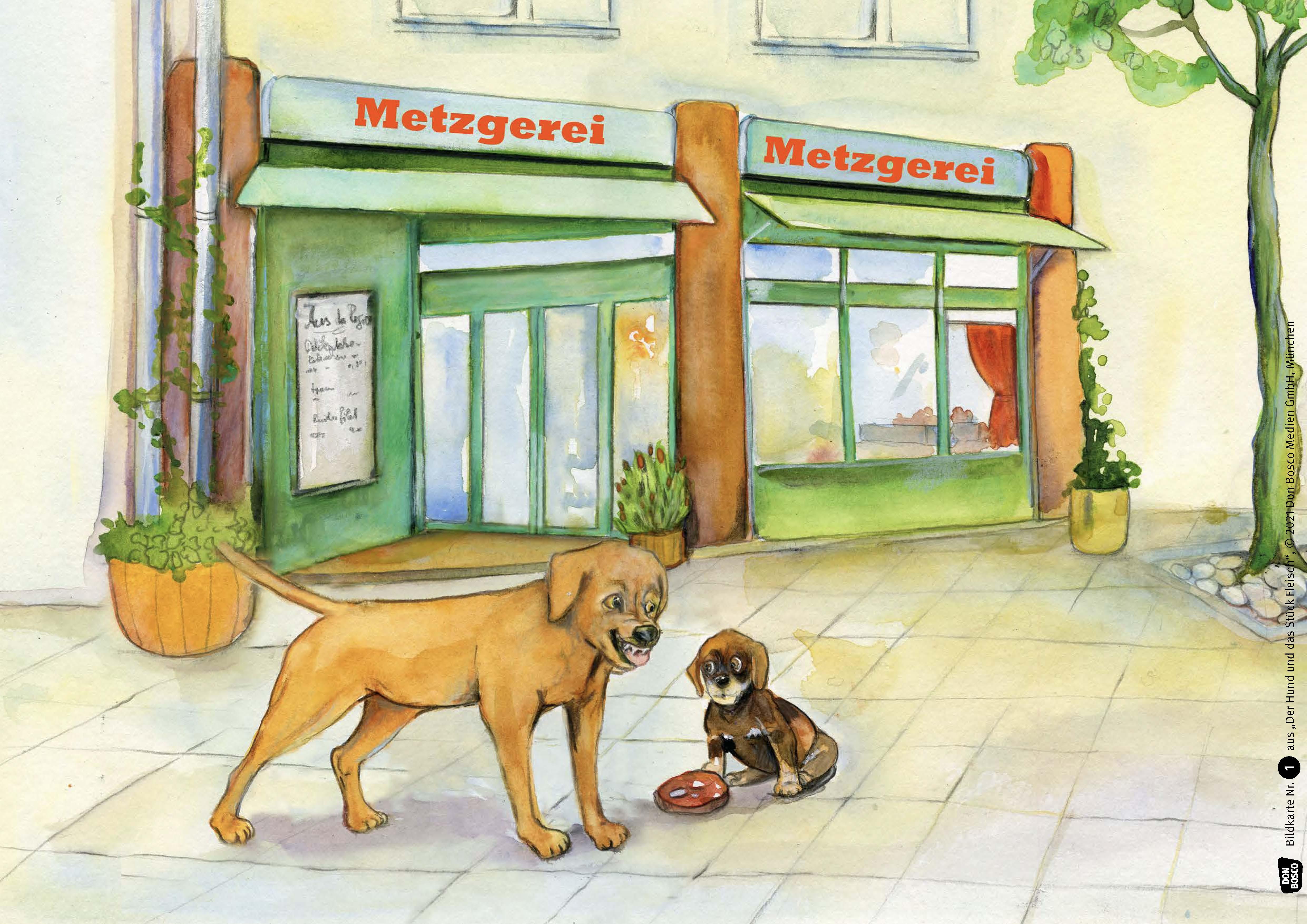 Innenansicht zu Der Hund und das Stück Fleisch. eKami.