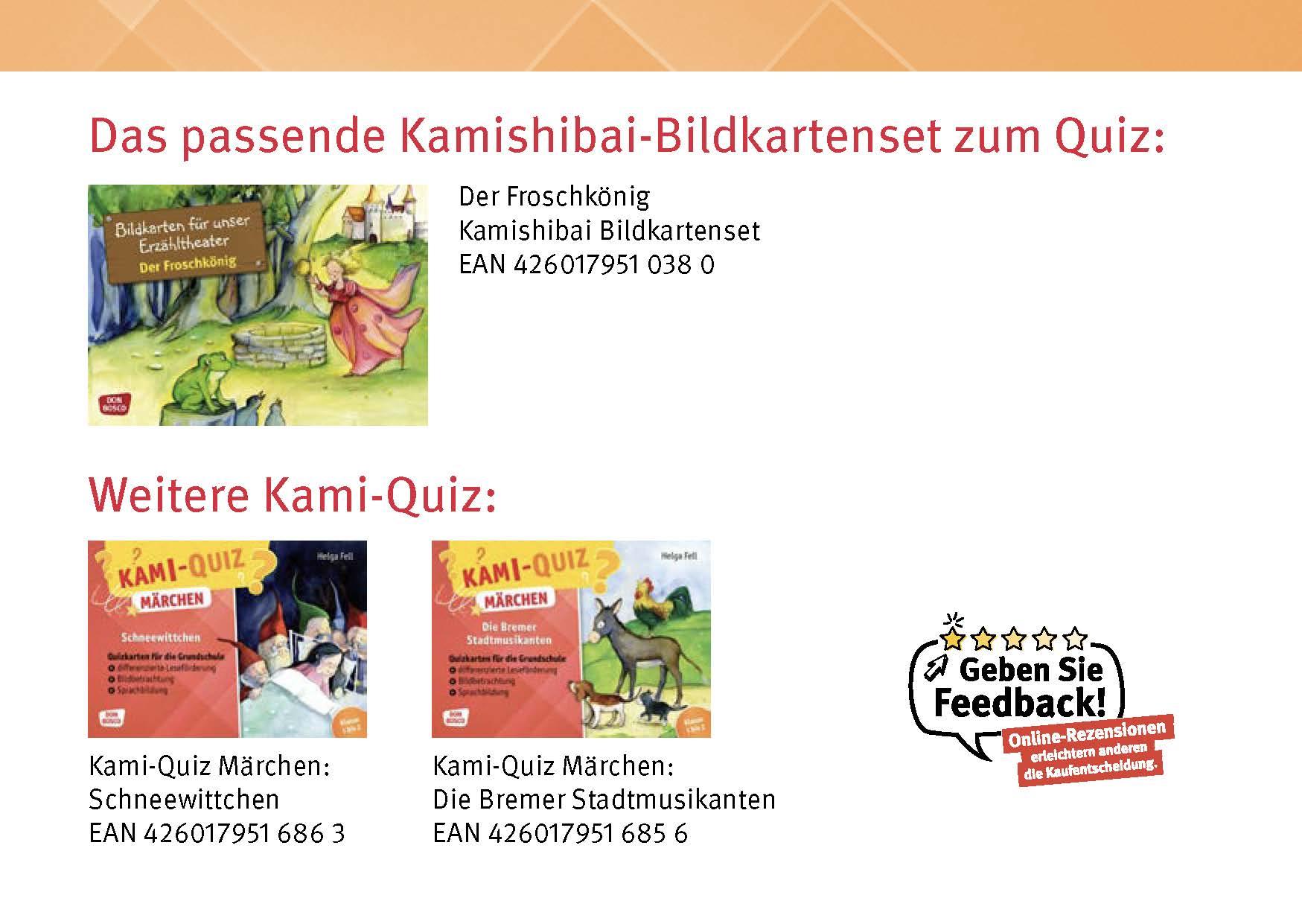 Innenansicht zu Kami-Quiz Märchen: Der Froschkönig
