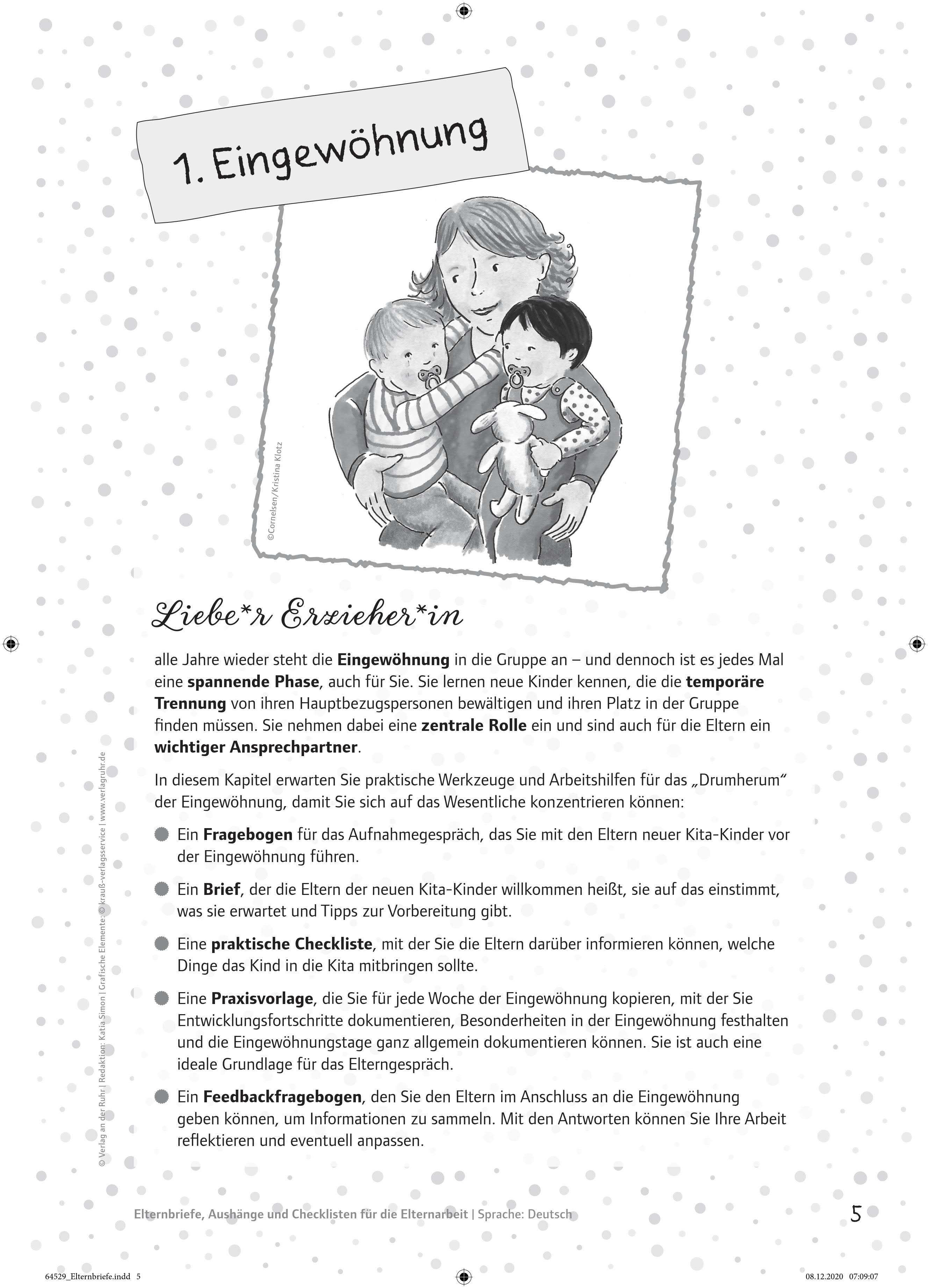 Innenansicht zu Perfekt organisiert im Kita-Alltag: Elternbriefe, Aushänge und Checklisten für die Elternarbeit