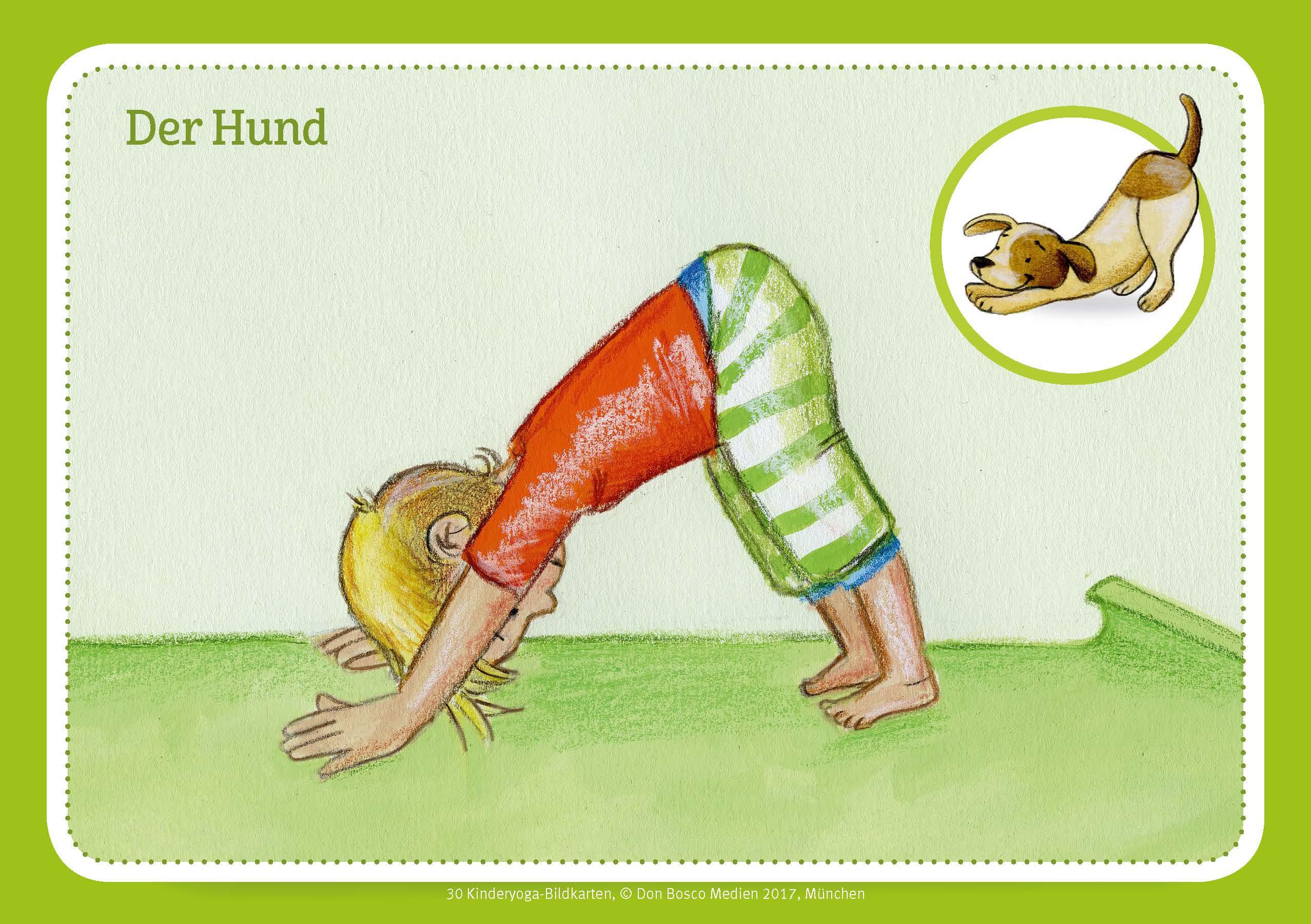 Innenansicht zu 30 Kinderyoga-Bildkarten