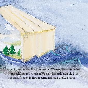 Innenansicht zu Noahs Arche. Mini-Bilderbuch.