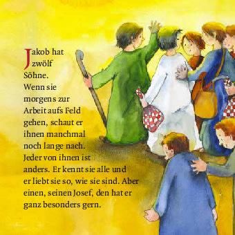 Innenansicht zu Josef und seine Brüder. Mini-Bilderbuch.