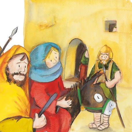 Innenansicht zu Jesus wird geboren. Mini-Bilderbuch.