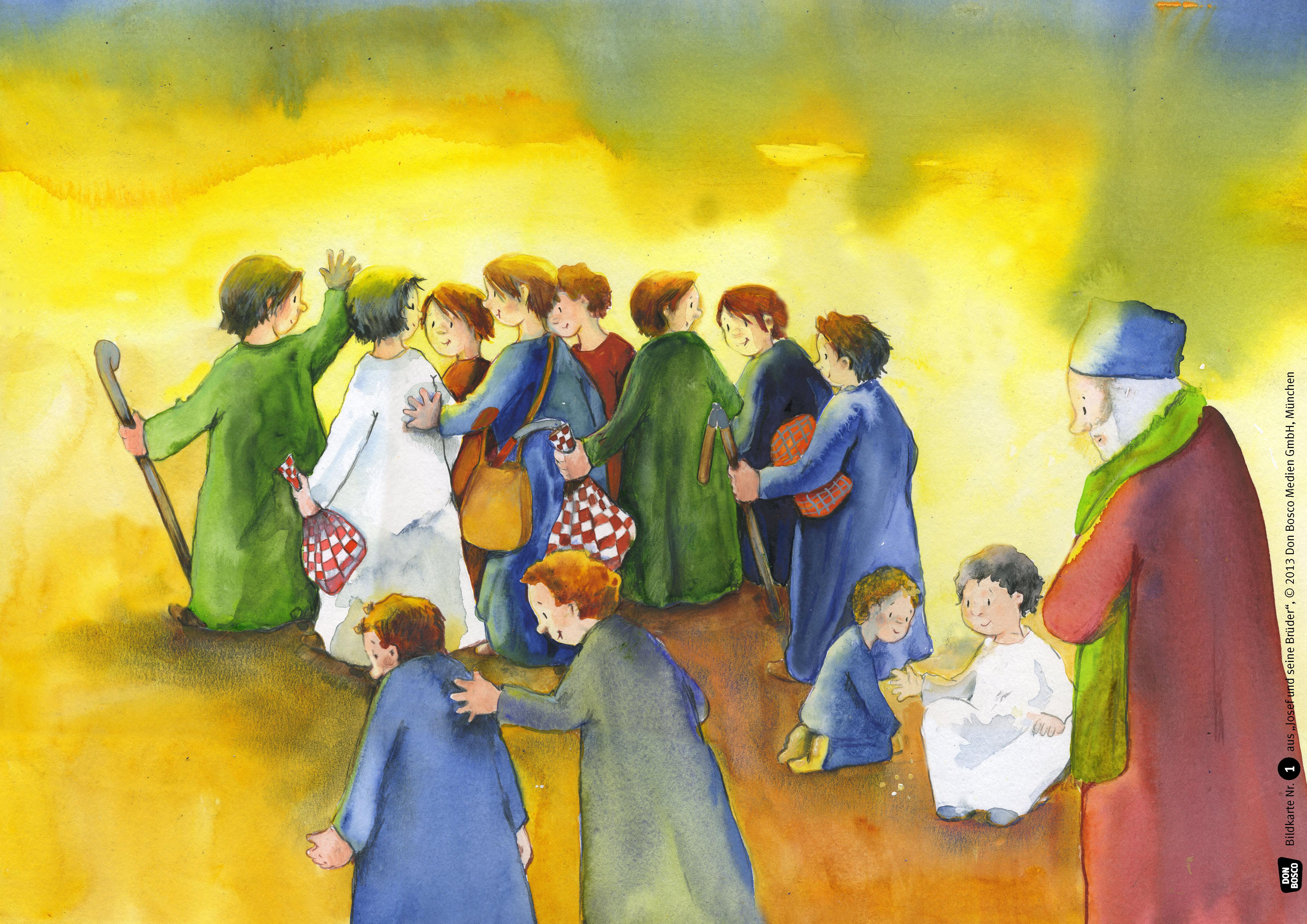 Innenansicht zu Josef und seine Brüder. Kamishibai Bildkartenset.