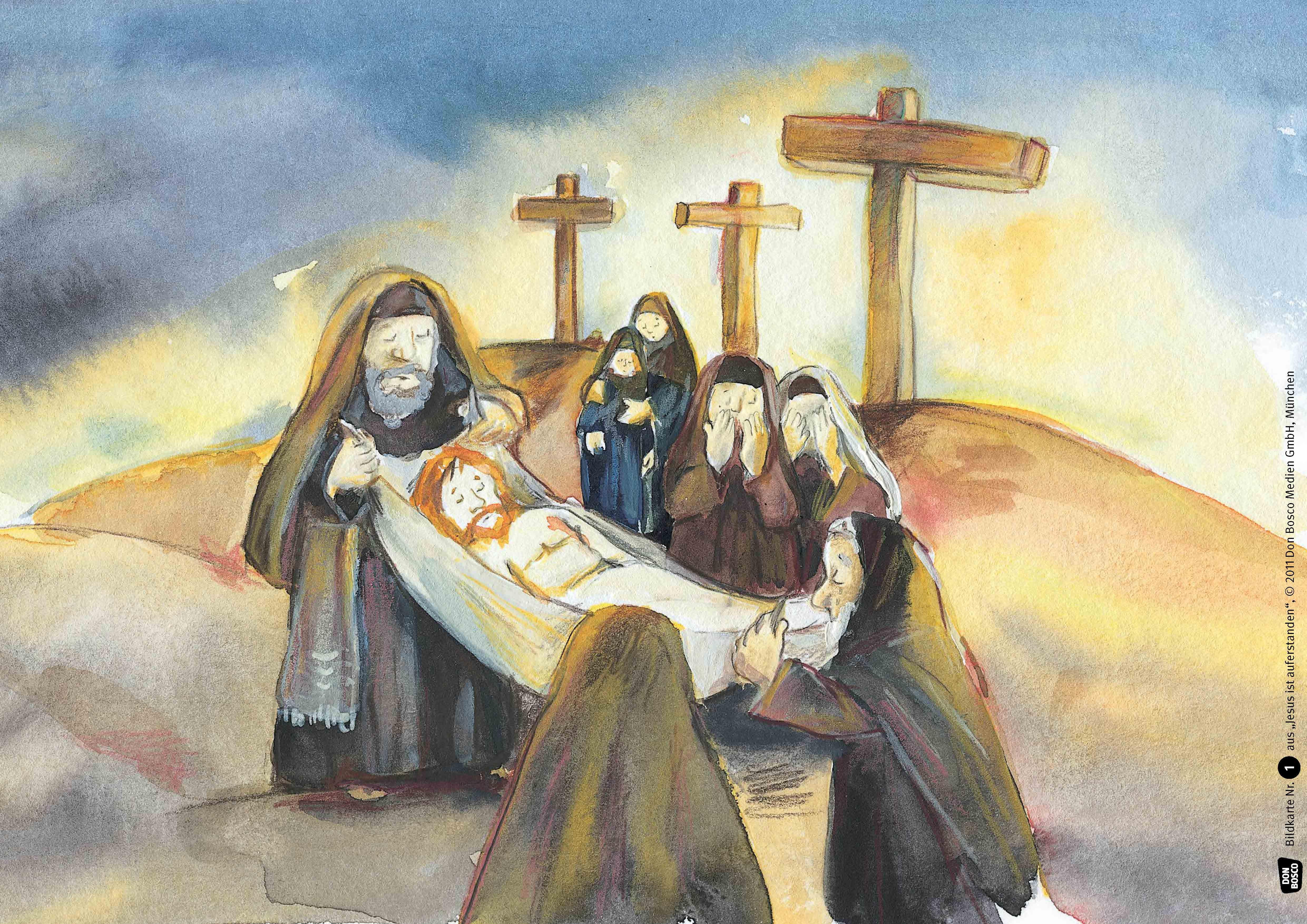 Innenansicht zu Jesus ist auferstanden. Kamishibai Bildkartenset.