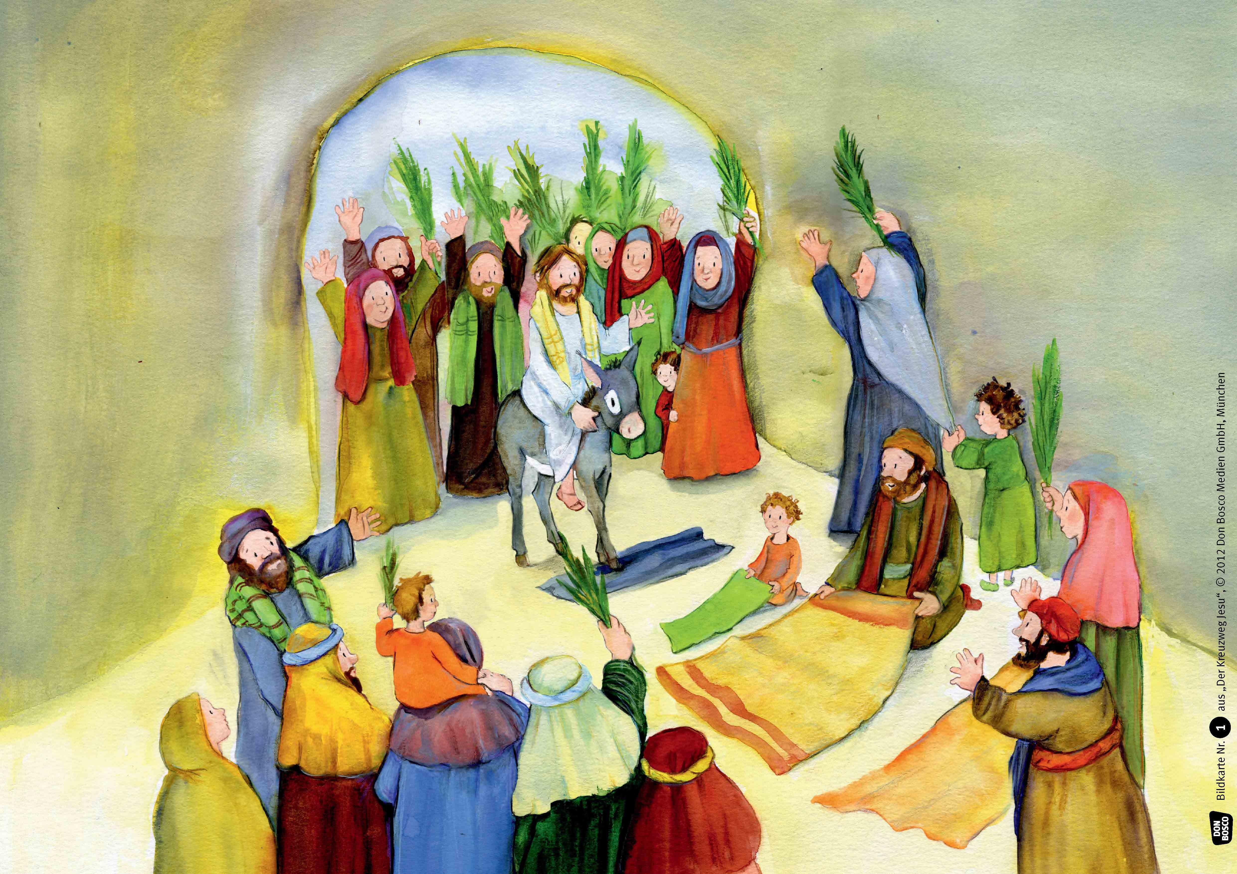 Innenansicht zu Der Kreuzweg Jesu. Kamishibai Bildkartenset.