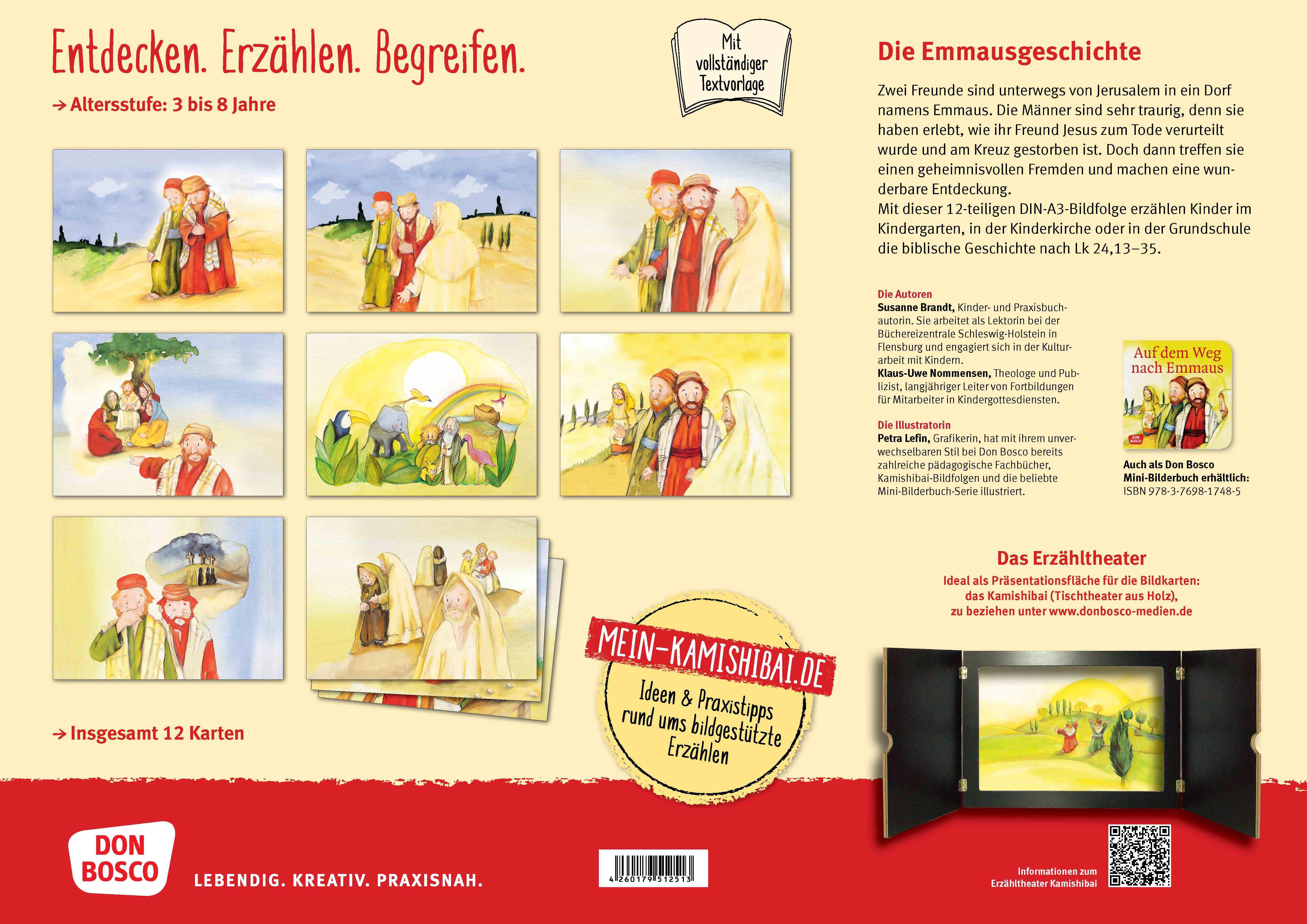 Innenansicht zu Die Emmausgeschichte. Kamishibai Bildkartenset.