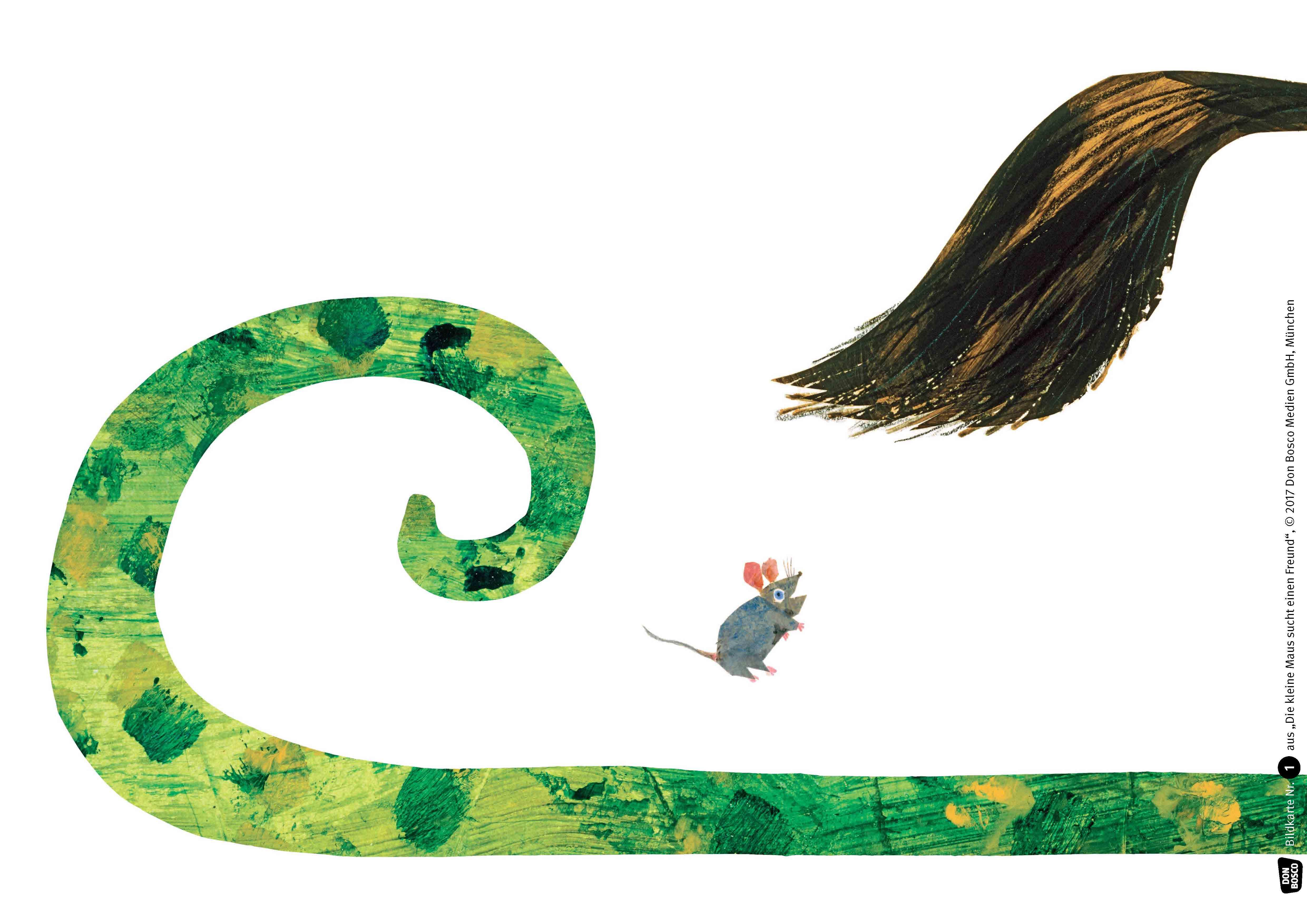 Innenansicht zu Die kleine Maus sucht einen Freund. Kamishibai Bildkartenset.