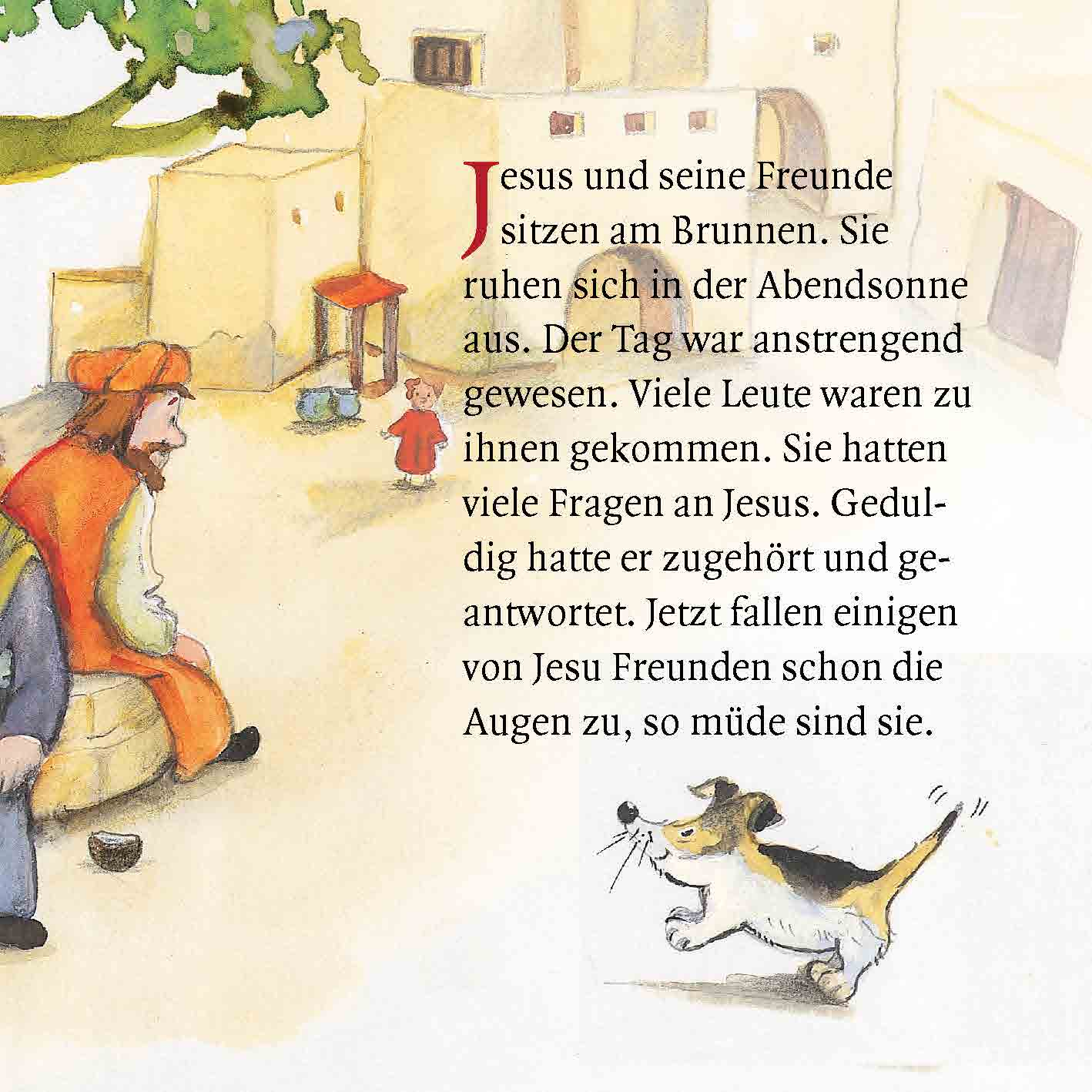 Innenansicht zu Jesus segnet die Kinder. Mini-Bilderbuch.