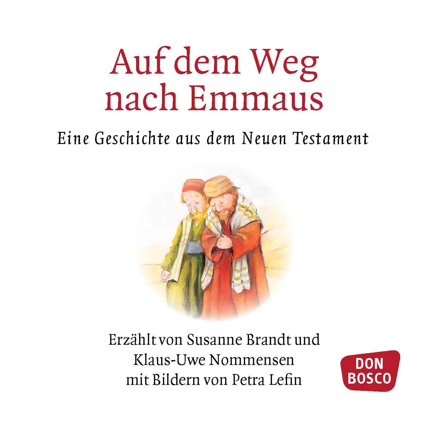 Innenansicht zu Auf dem Weg nach Emmaus. Mini-Bilderbuch.