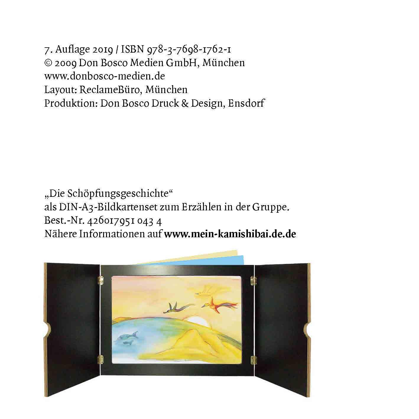 Innenansicht zu Wie Himmel und Erde entstanden. Die Schöpfungsgeschichte. Mini-Bilderbuch.