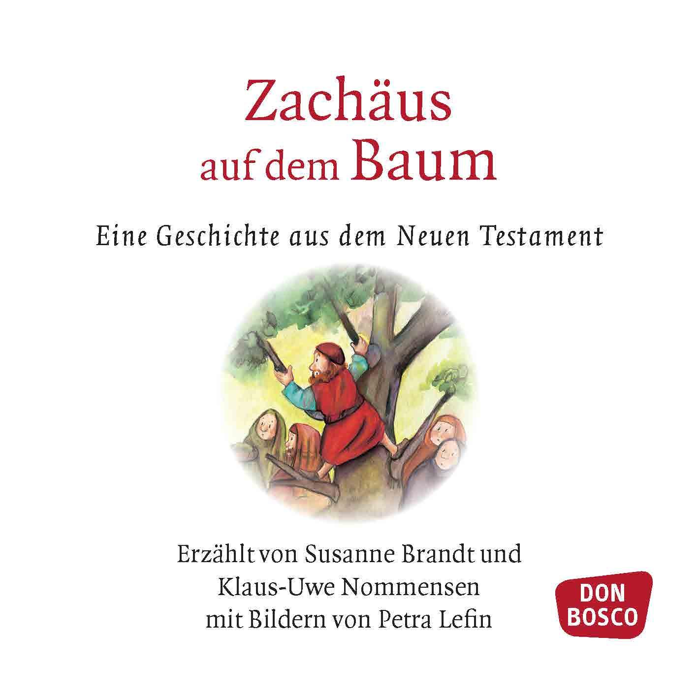 Innenansicht zu Zachäus auf dem Baum. Mini-Bilderbuch.