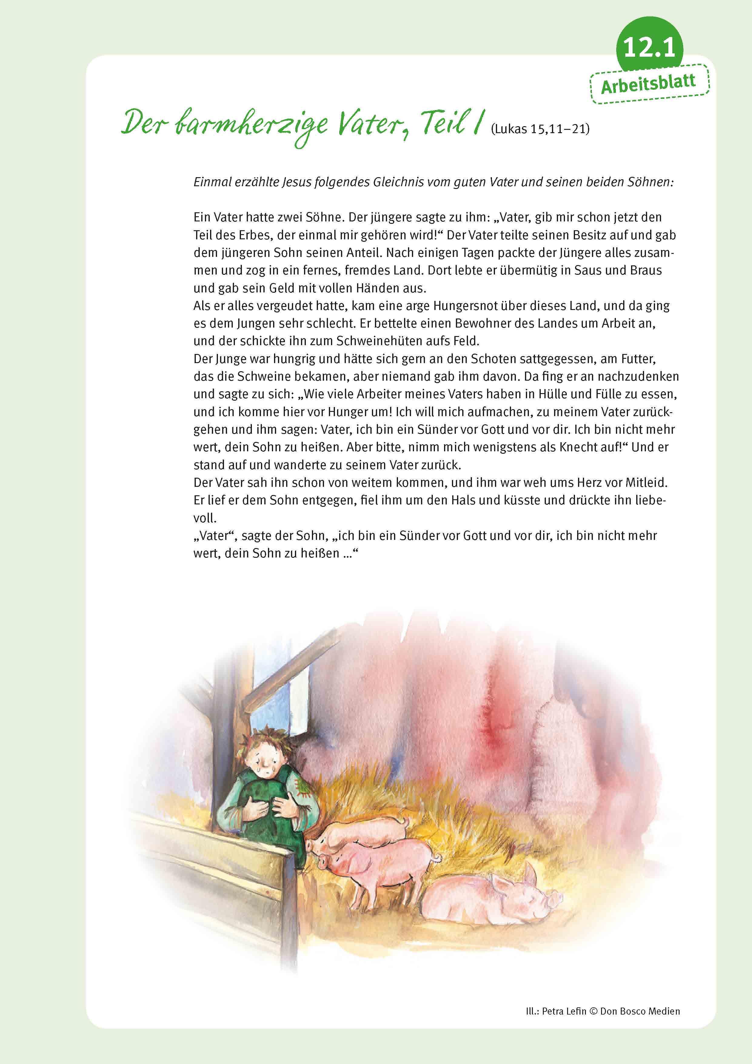 Innenansicht zu Unser Weg zur Erstkommunion, Begleitmappe für Kinder