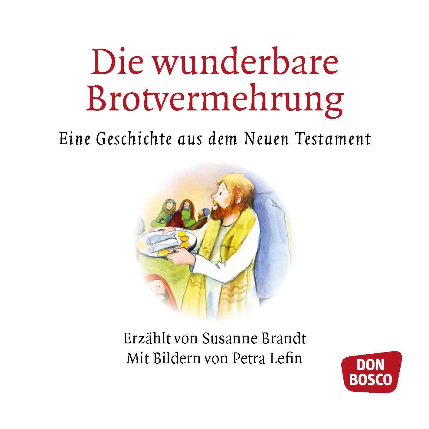 Innenansicht zu Die wunderbare Brotvermehrung. Mini-Bilderbuch.