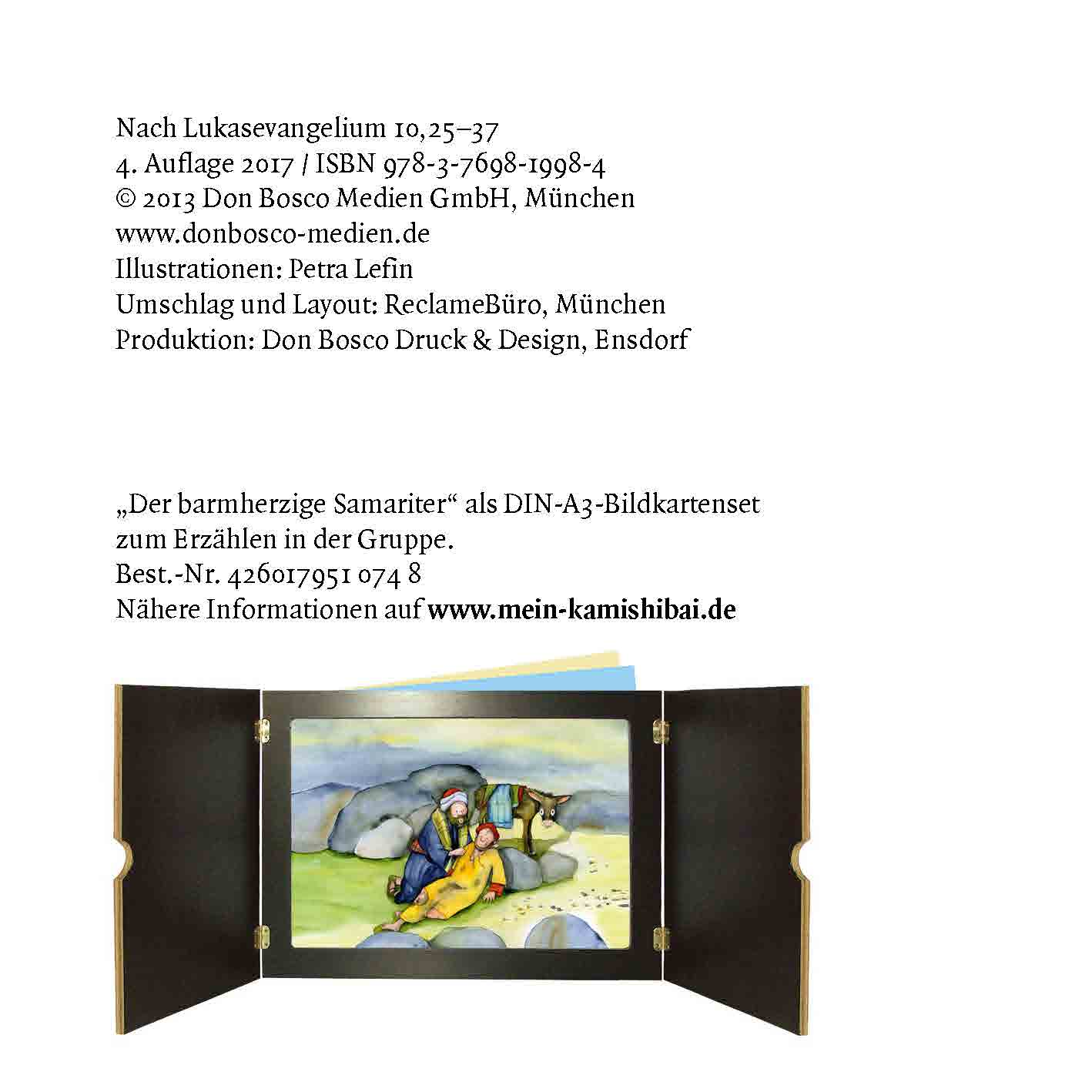 Innenansicht zu Der barmherzige Samariter. Mini-Bilderbuch.