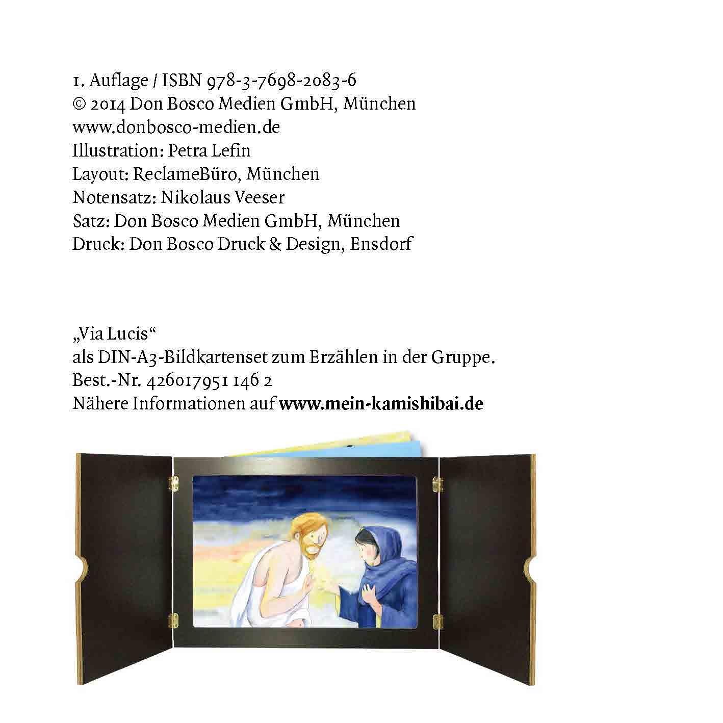 Innenansicht zu Via Lucis. Der Lichtweg von Ostern bis Pfingsten. Mini-Bilderbuch.