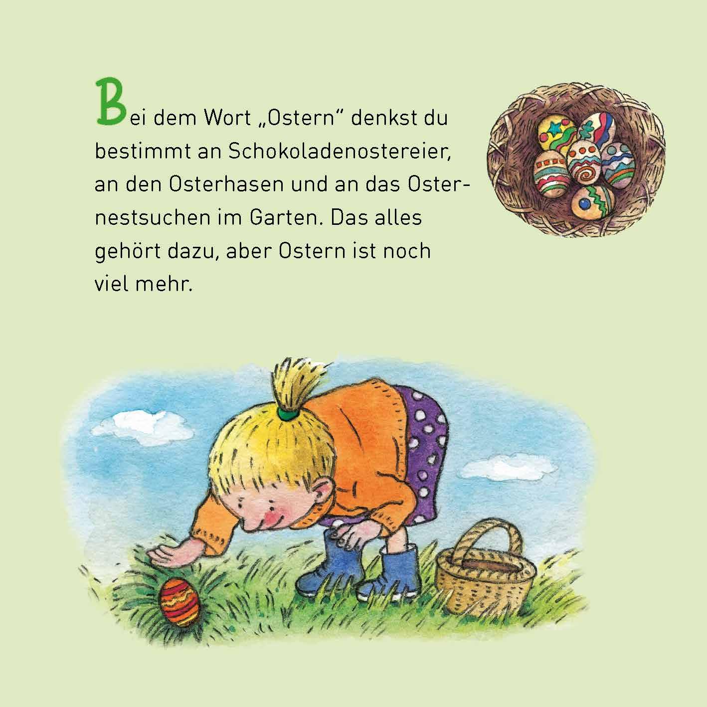 Innenansicht zu Ostern. Mini-Bilderbuch.