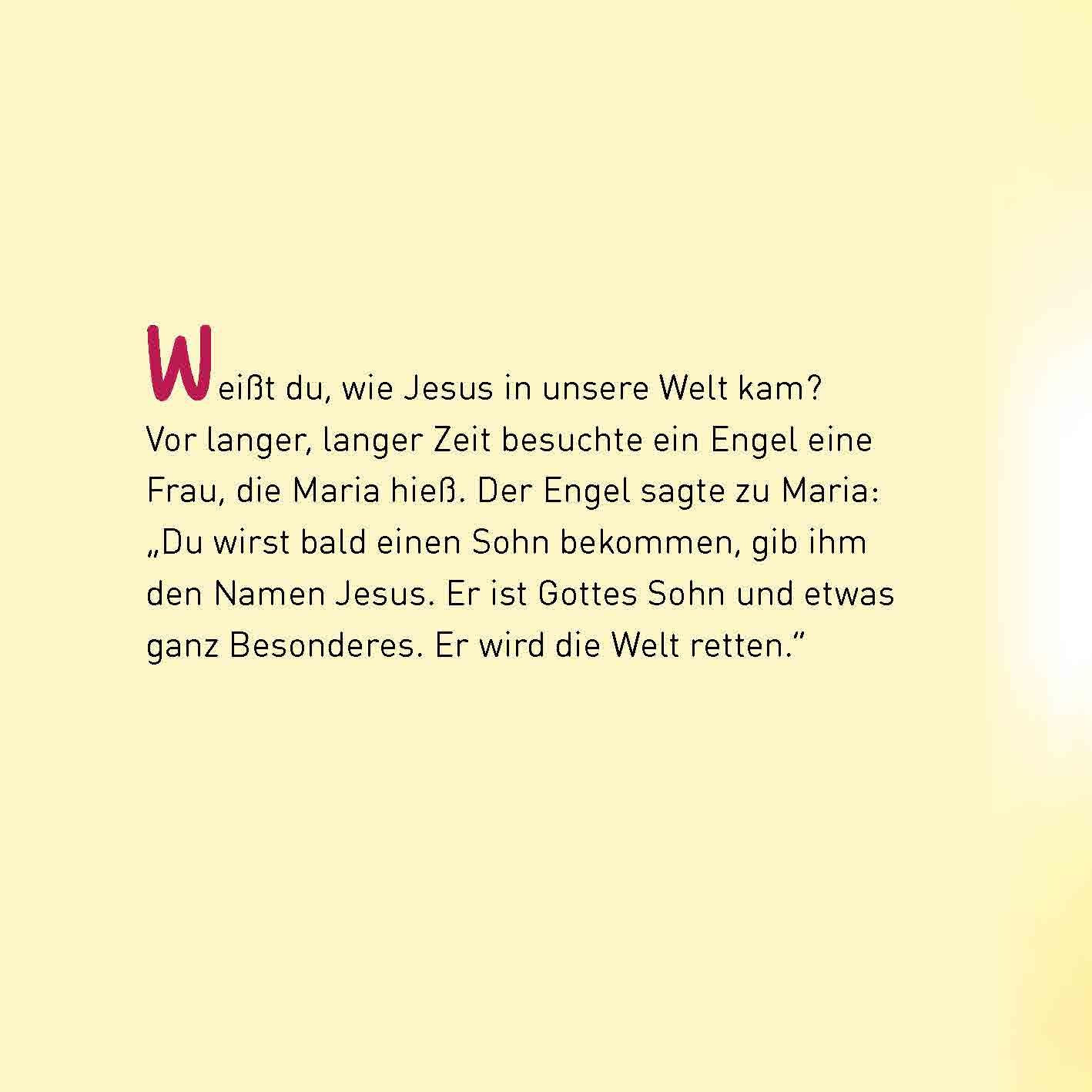 Innenansicht zu Jesus. Mini-Bilderbuch.