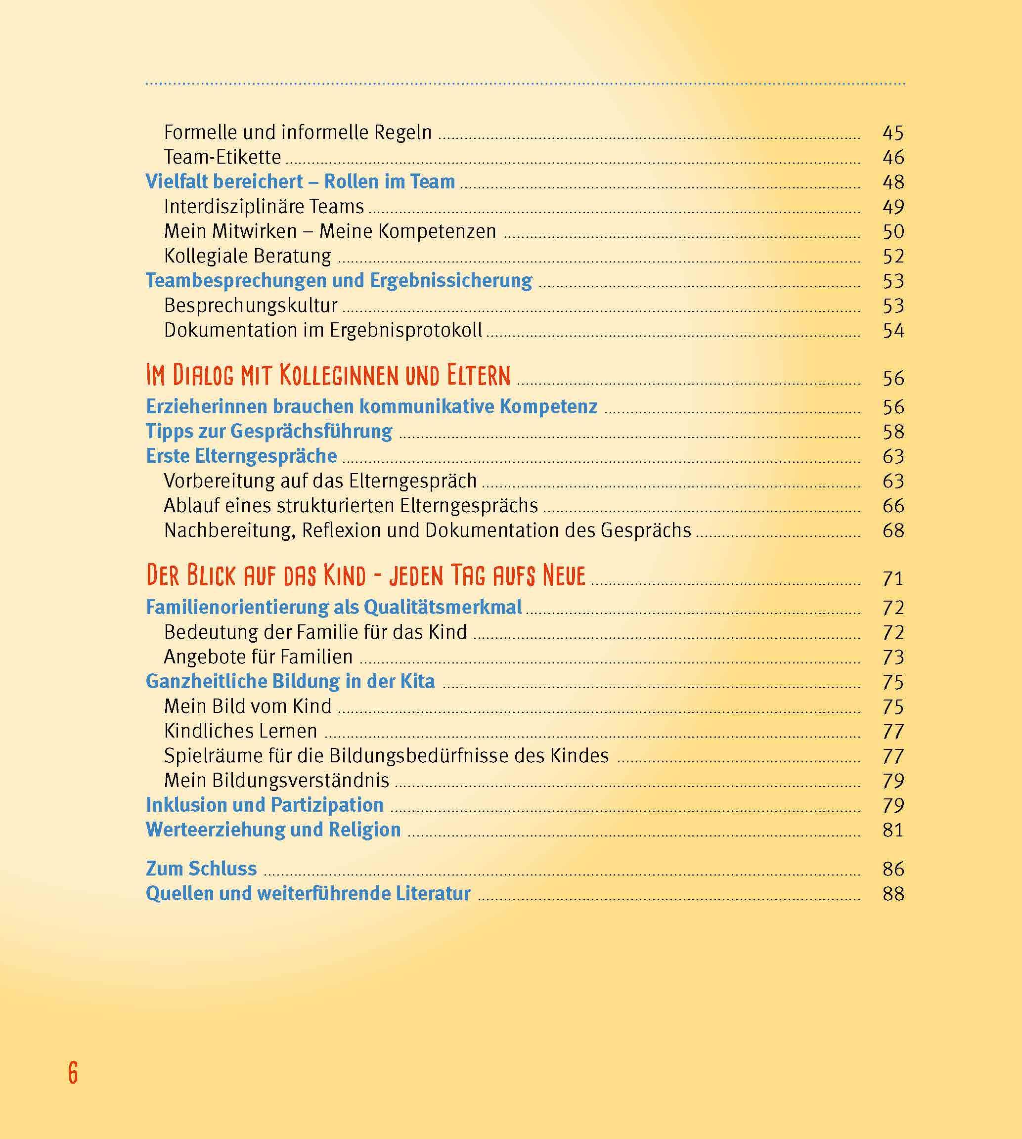 Innenansicht zu Das Berufseinsteiger-Buch für ErzieherInnen