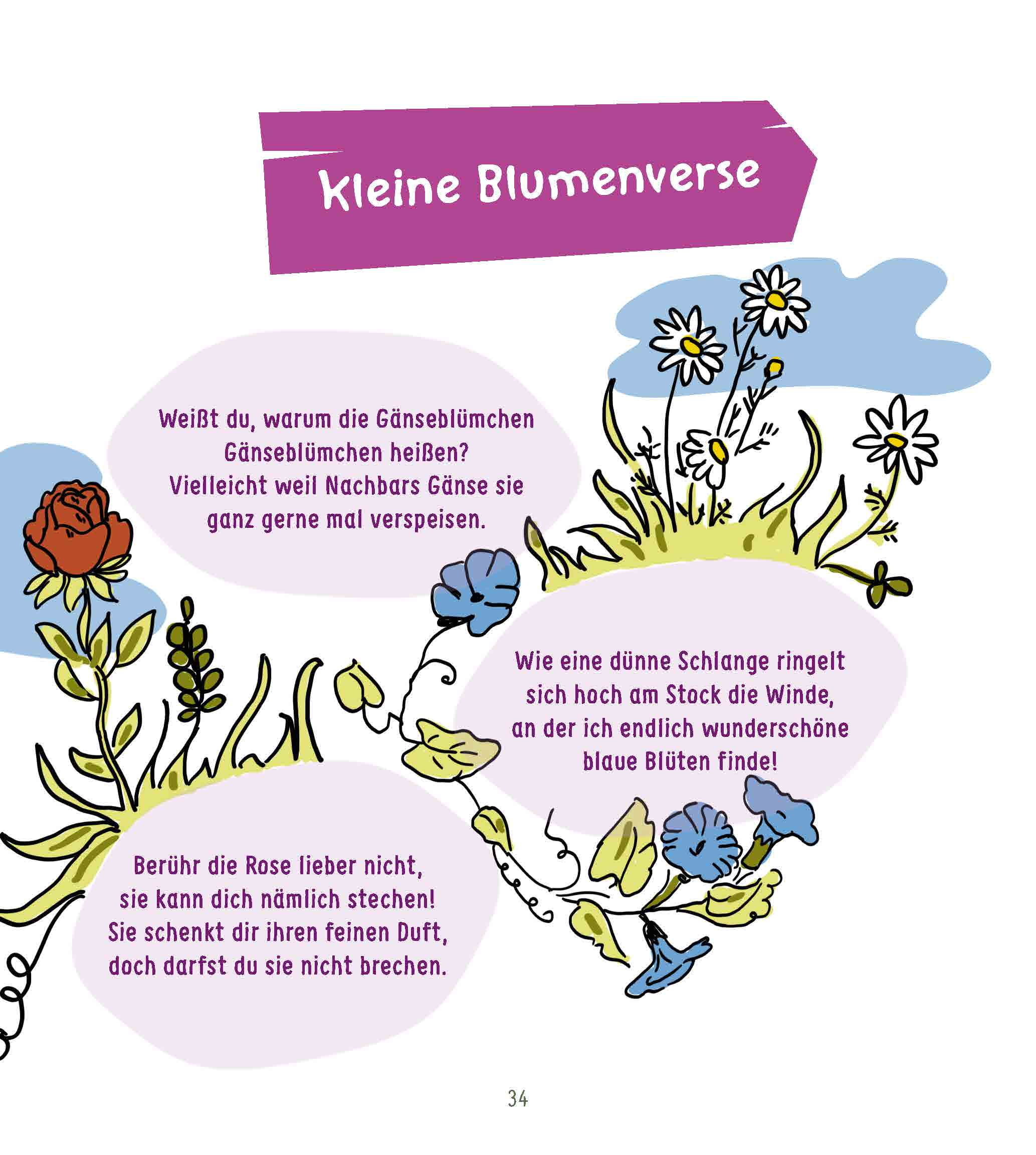 Innenansicht zu Projektideen für Kinder von 1 bis 4: Blumen