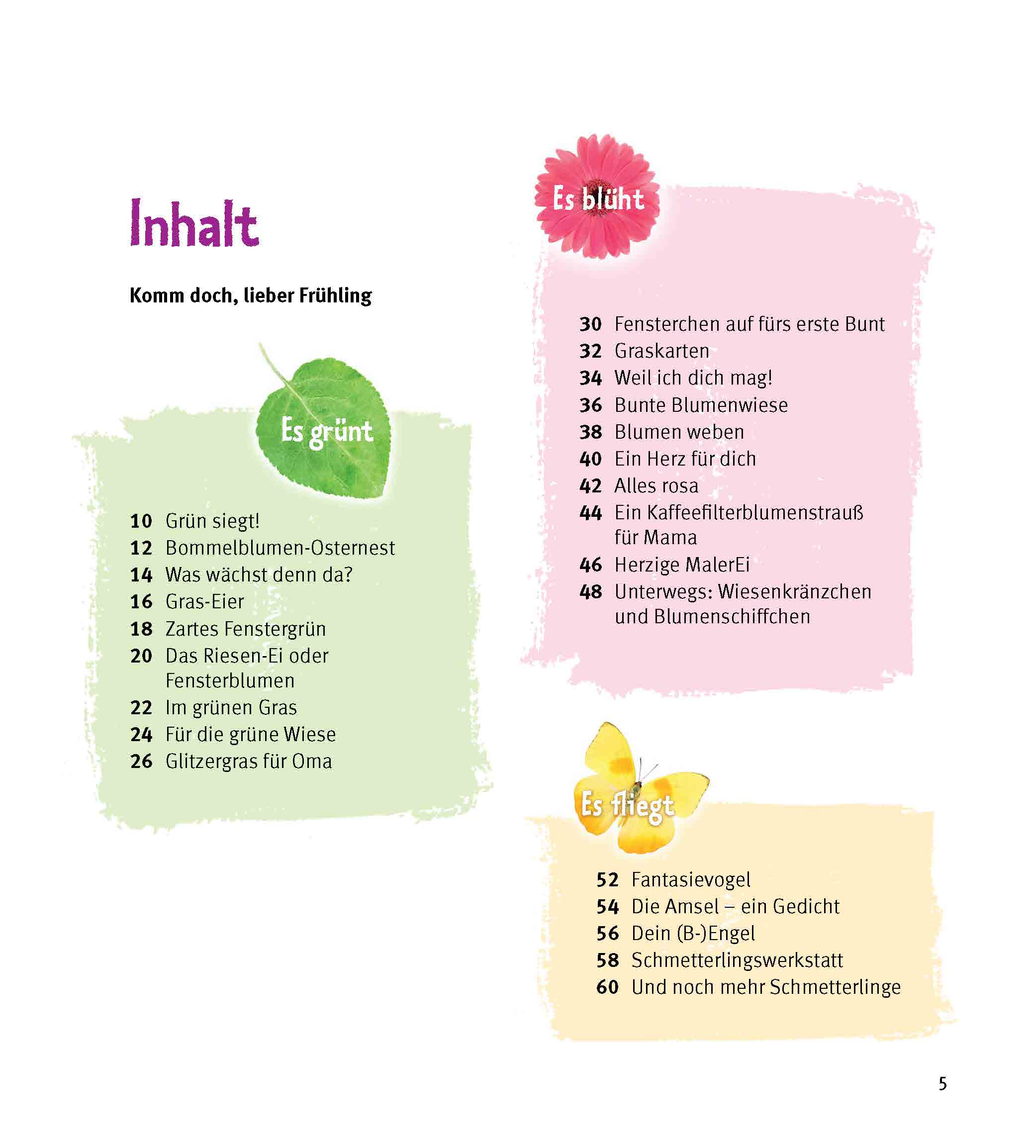 Innenansicht zu 5 Minuten Kreativität zur Frühlings- und Osterzeit