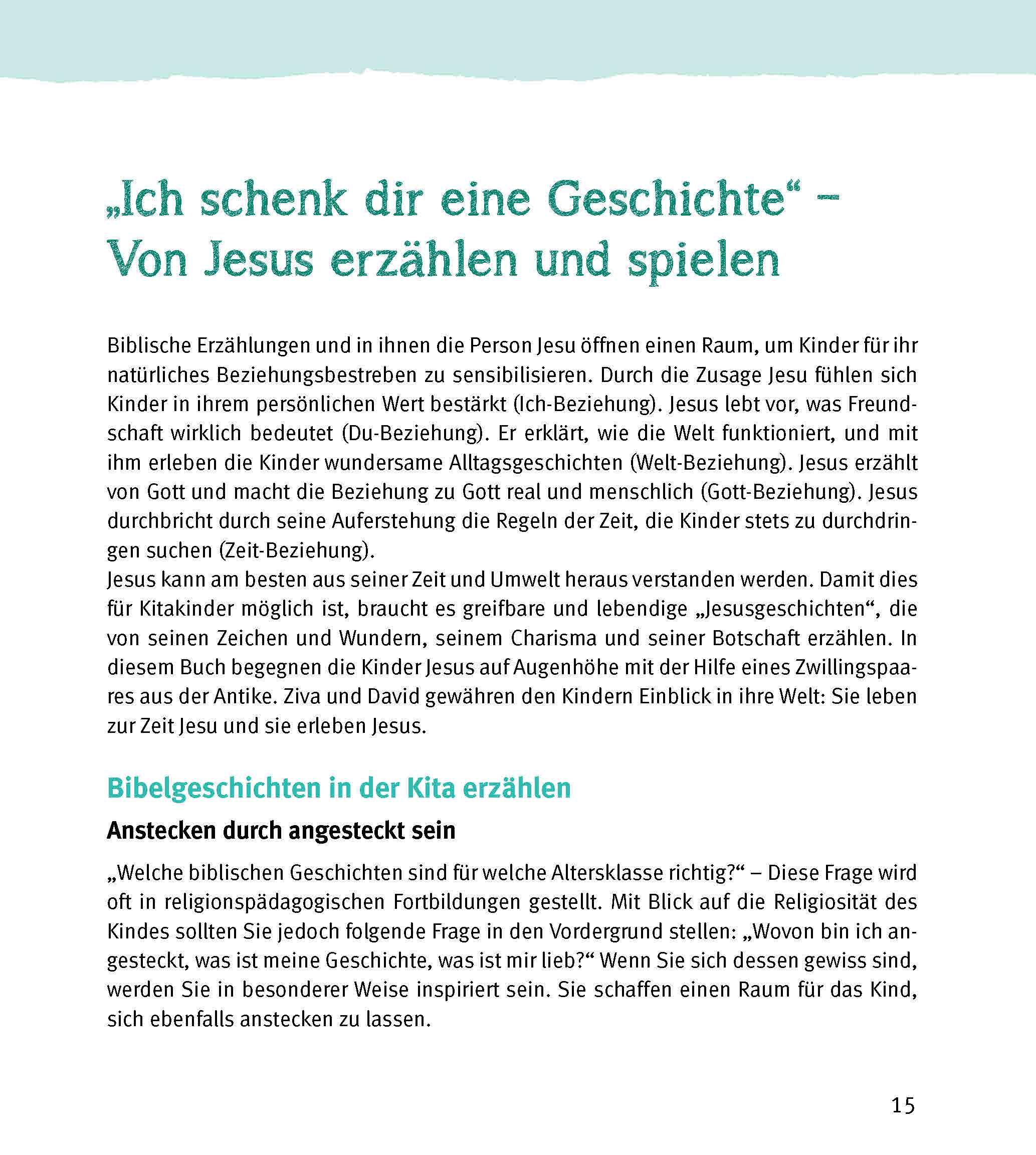Innenansicht zu Spielstationen in der Kita. Jesus und Ostern erleben. 1 bis 6 Jahre