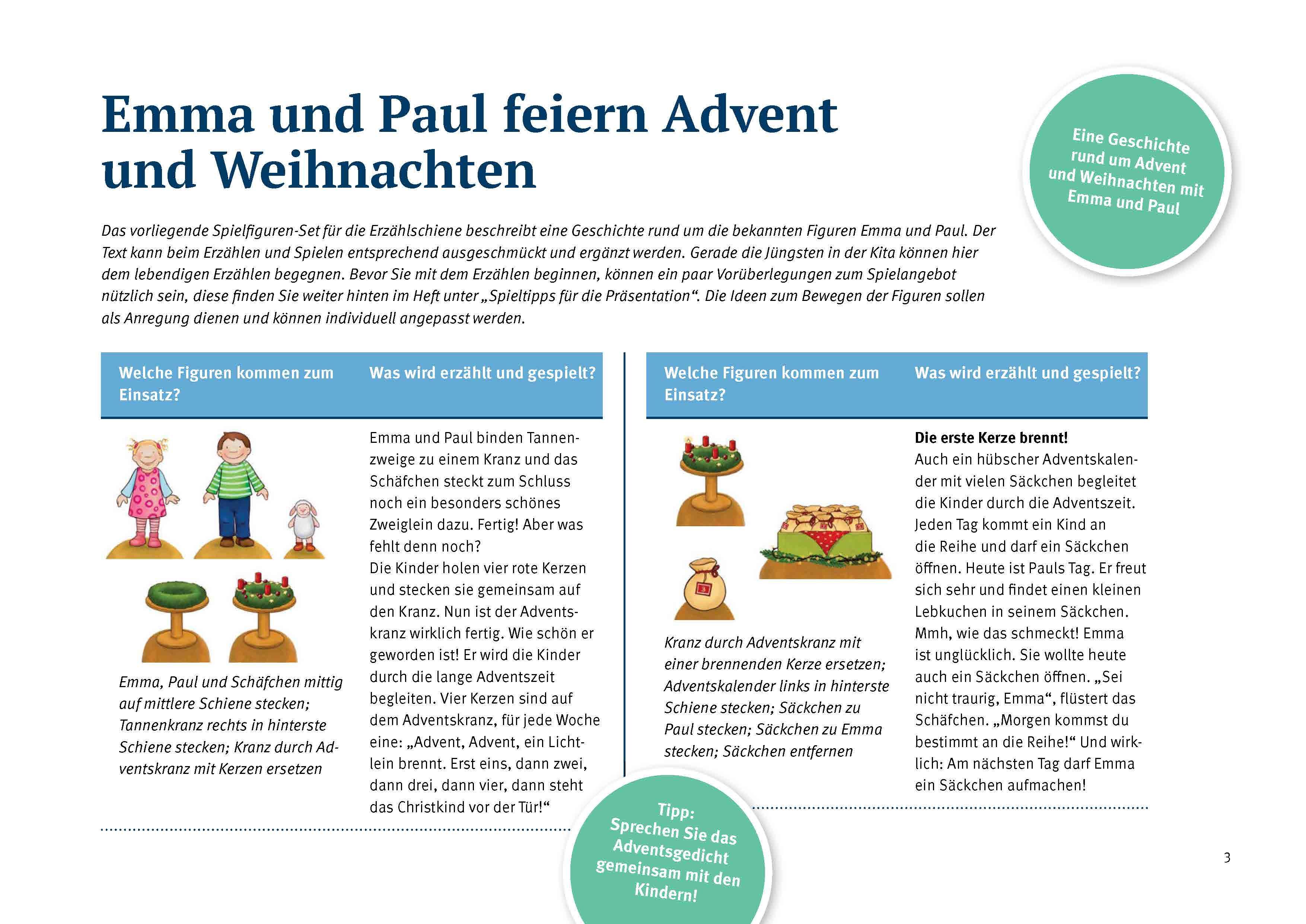 Innenansicht zu Emma und Paul feiern Advent und Weihnachten