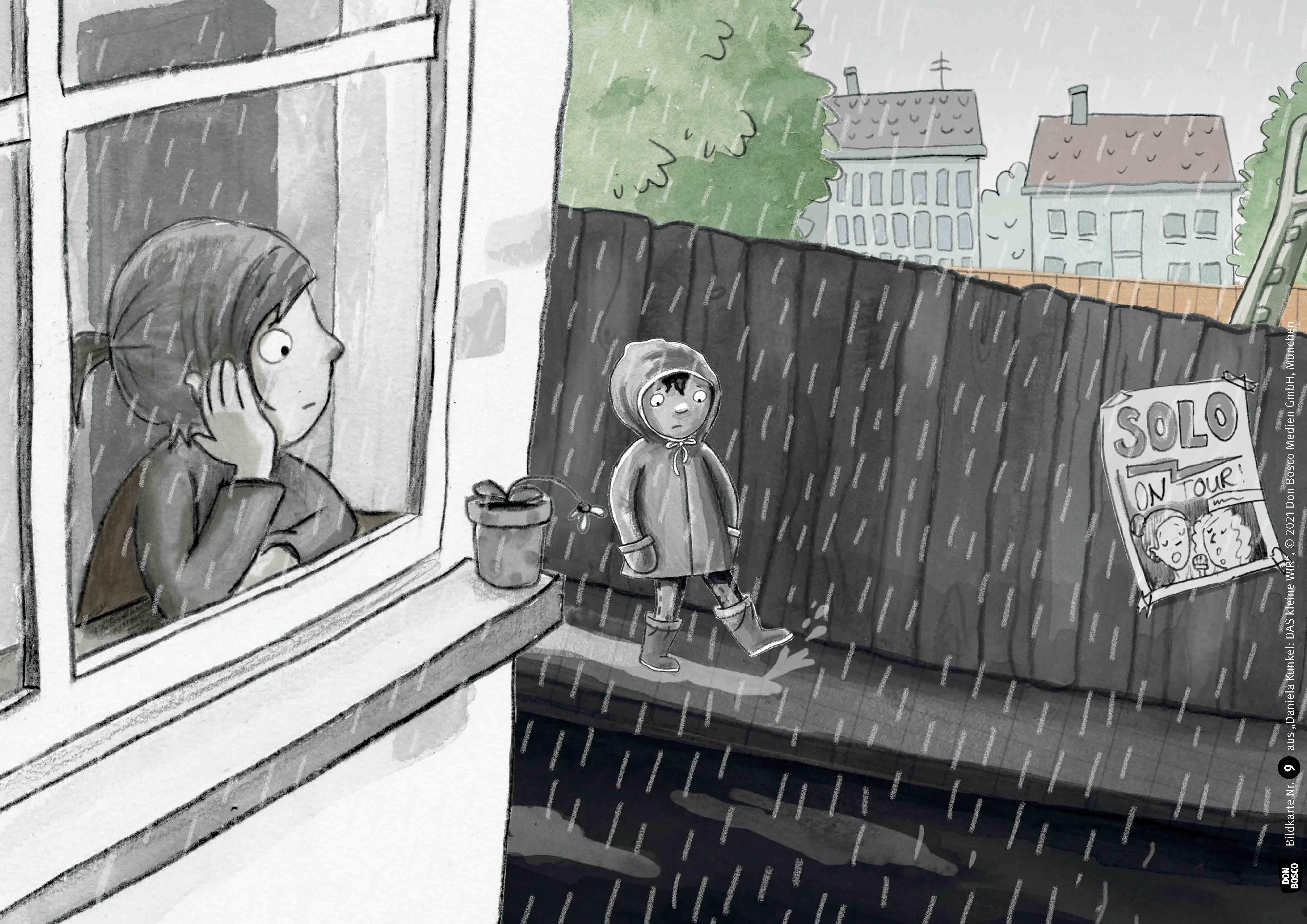 Innenansicht zu Das kleine Wir. Kamishibai Bildkartenset