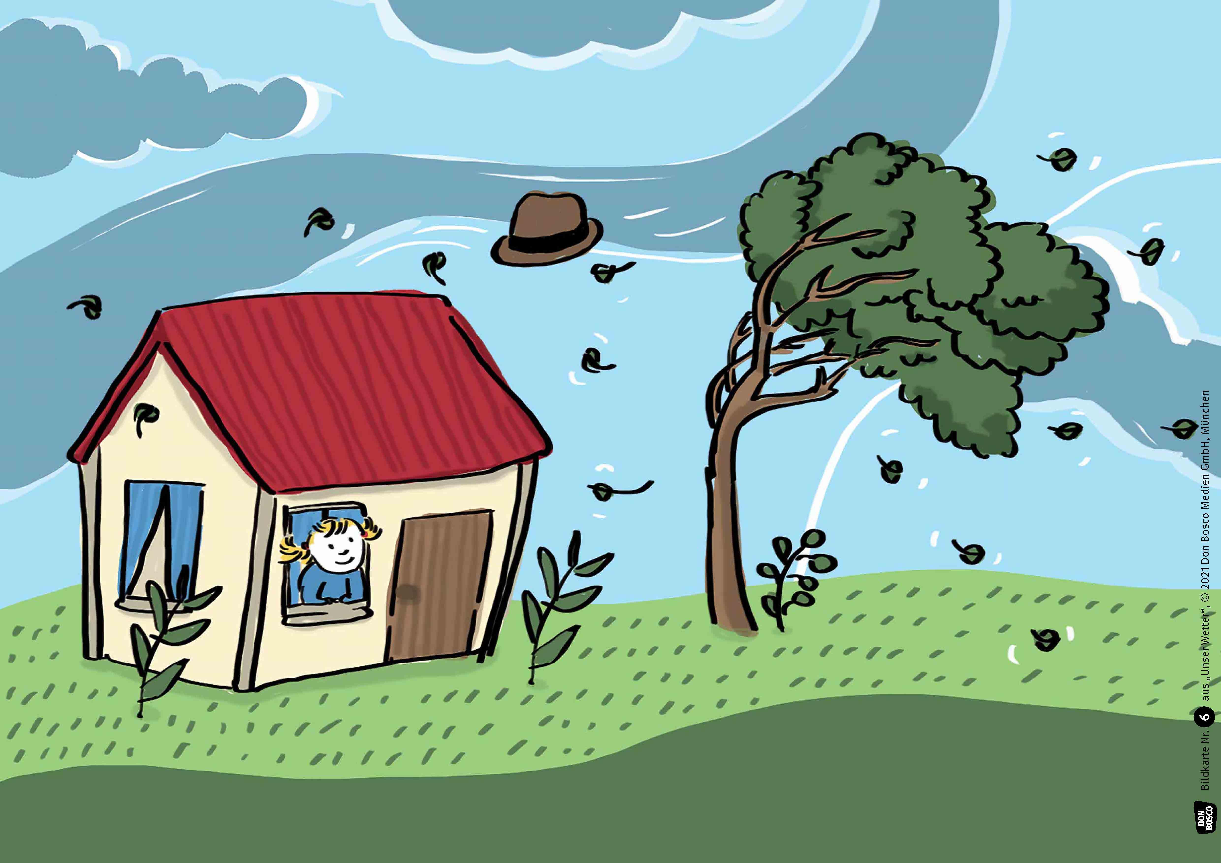 Innenansicht zu Unser Wetter. Kamishibai Bildkartenset