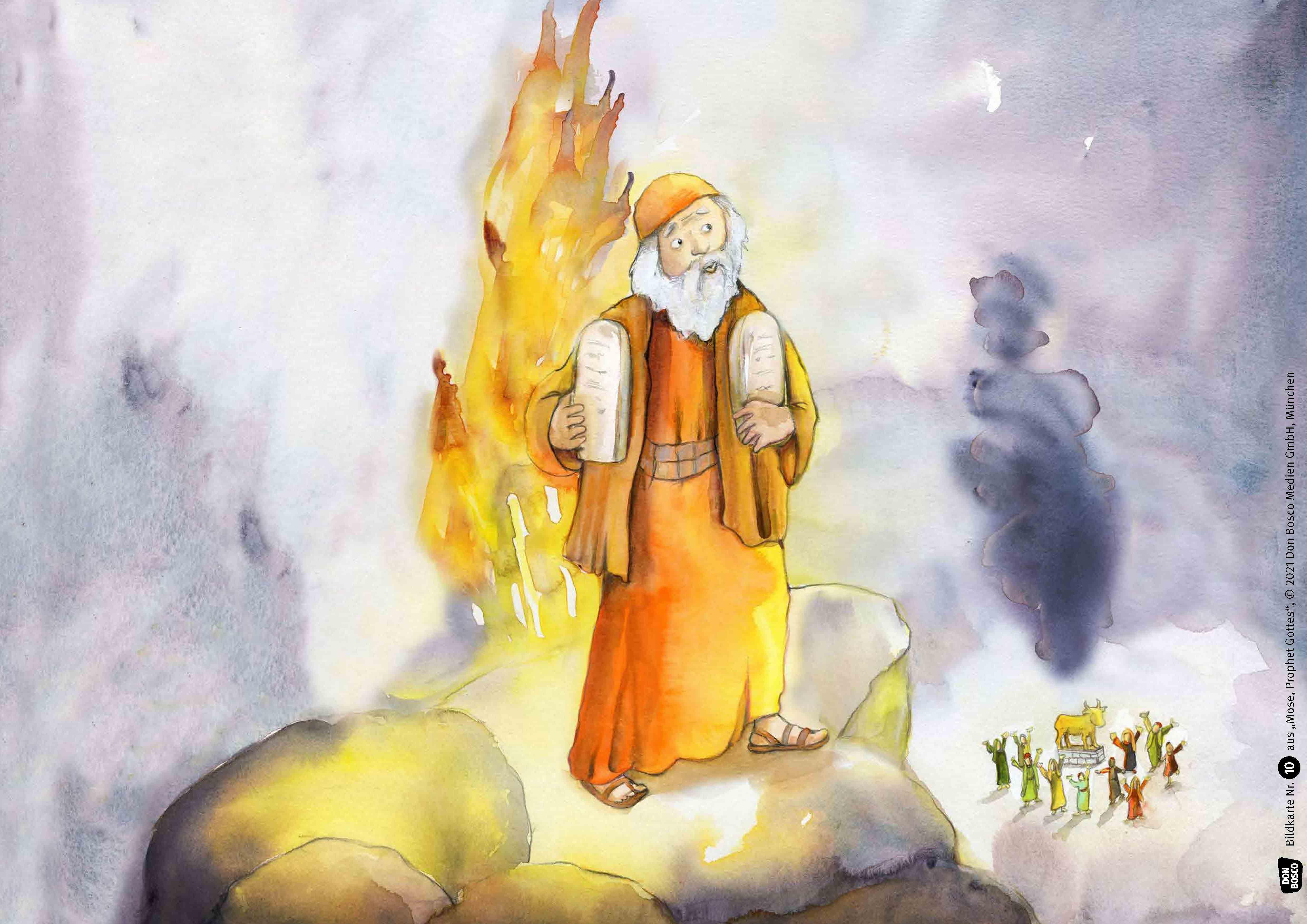 Innenansicht zu Mose, Prophet Gottes. Kamishibai Bildkartenset