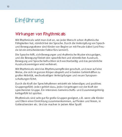 Innenansicht zu Das Rhythmical-Buch, m. Audio-CD