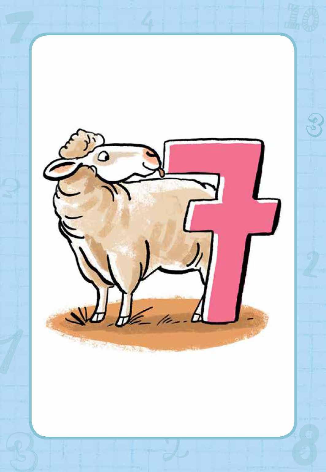 Innenansicht zu Schafalarm. Ein Denk- und Zahlenspiel