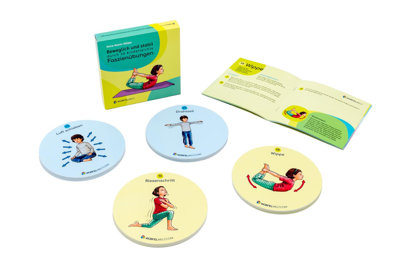 Innenansicht zu Beweglich und stabil durch 30 kinderleichte Faszienübungen – Einlegeset für die Würfelwelt