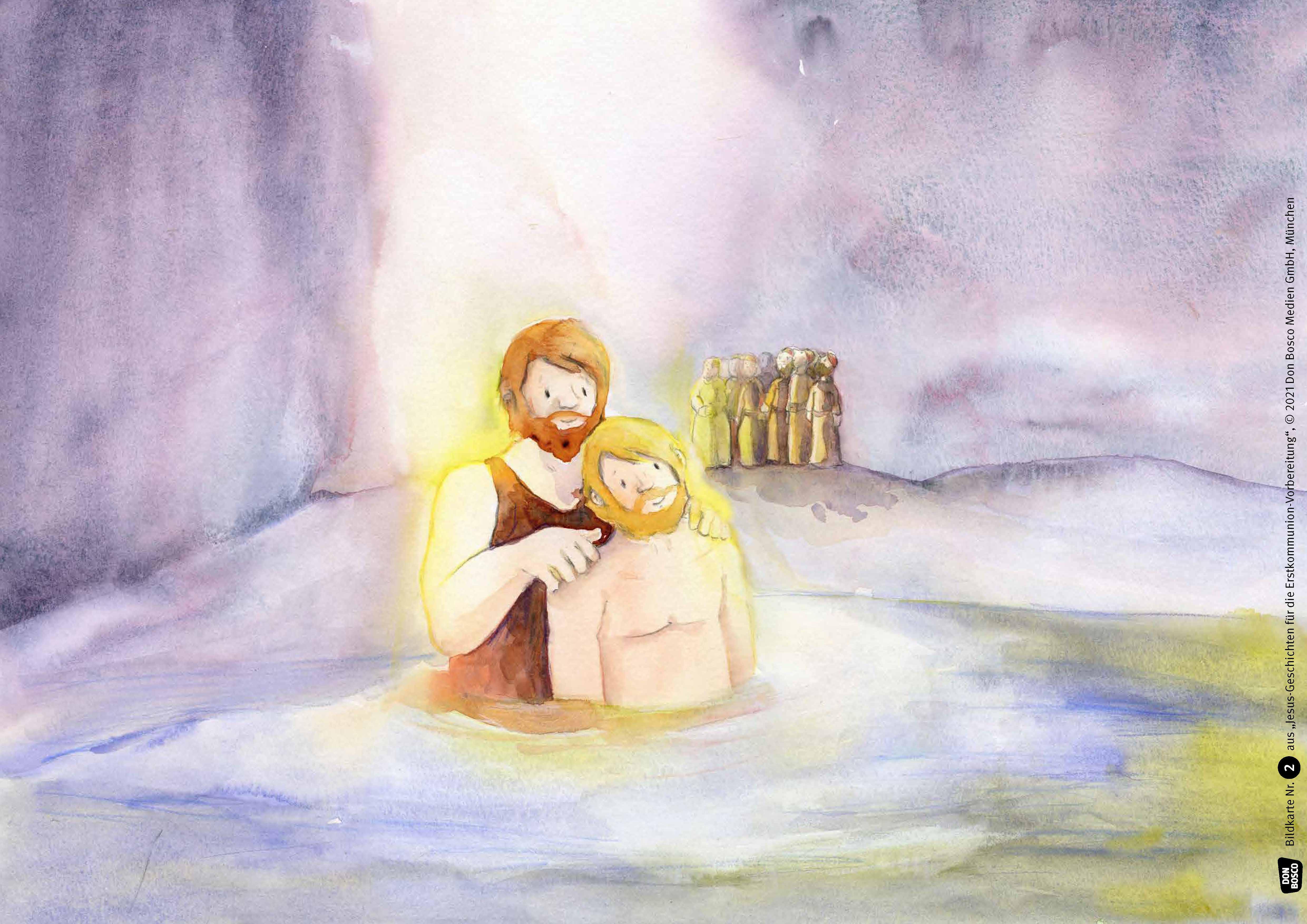 Innenansicht zu Jesus-Geschichten für die Erstkommunion-Vorbereitung. Kamishibai Bildkartenset