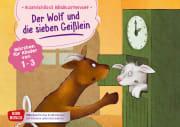 Der Wolf und die sieben Geißlein. Kamishibai Bildkartenset.