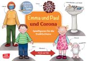 Emma und Paul und Corona. Spielfiguren für die Erzählschiene.