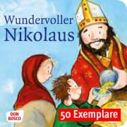 Wundervoller Nikolaus. Die Geschichte vom heiligen Nikolaus. Mini-Bilderbuch. Paket mit 50 Exemplaren zum Vorteilspreis