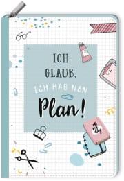 Notizbuch mit Reißverschluss - Ich glaub, ich hab nen Plan!
