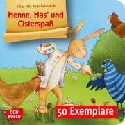 Henne, Has' und Osterspaß. Mini-Bilderbuch. Paket mit 50 Exemplaren zum Vorteilspreis